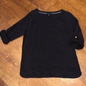 Lands' End 3/4 Sleeve Sweatershirt